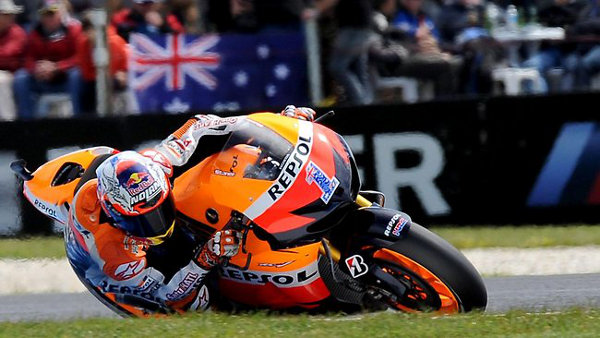 Motorcycle racer Casey Stoner