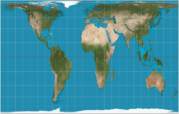 Gall-Peters world map projection