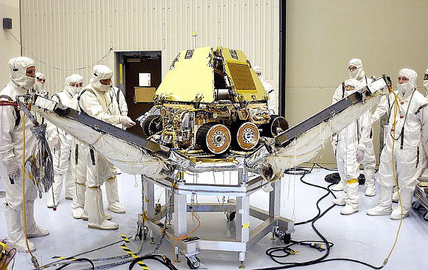 Opportunity Rover getting ready for journey to Mars