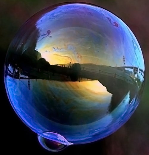Perfect soap bubble
