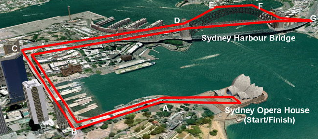 Free running from Opera House to Sydney Harbour Bridge