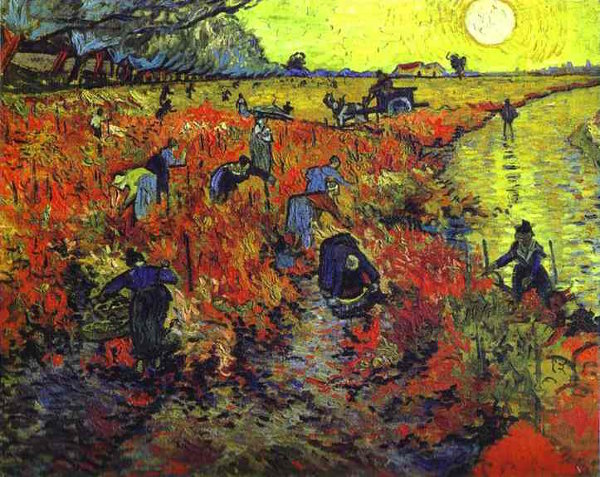 Red Vineyards painting by Van Gogh